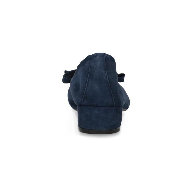 Modré baleríny z brúsenej kože bata, modrá, 523-9420 - 15