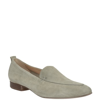 Dámske mokasíny z brúsenej kože bata, béžová, 516-8618 - 13