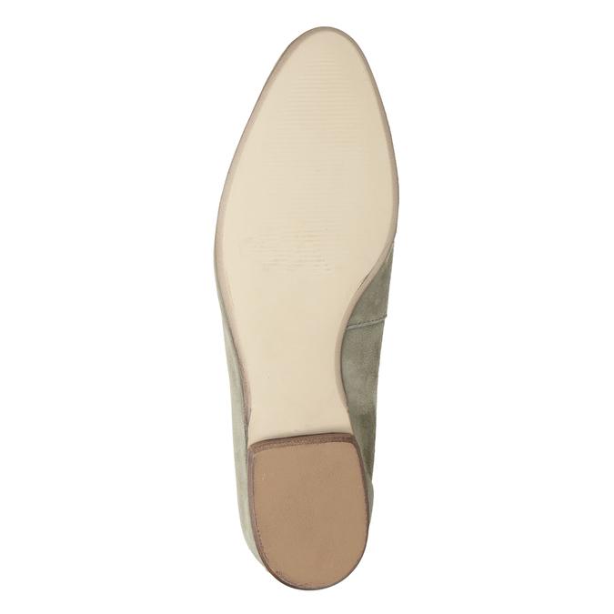 Dámske mokasíny z brúsenej kože bata, béžová, 516-8618 - 19