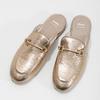 Dámske nazouváky s prackou bata, zlatá, 511-8609 - 16