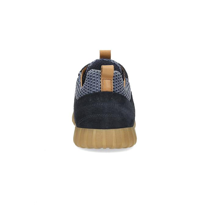 Modré pánske tenisky z brúsenej kože bata, 843-9634 - 15