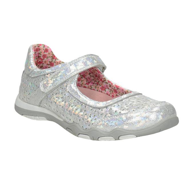 Metalické dievčenské baleríny bubblegummers, strieborná, 321-1614 - 13