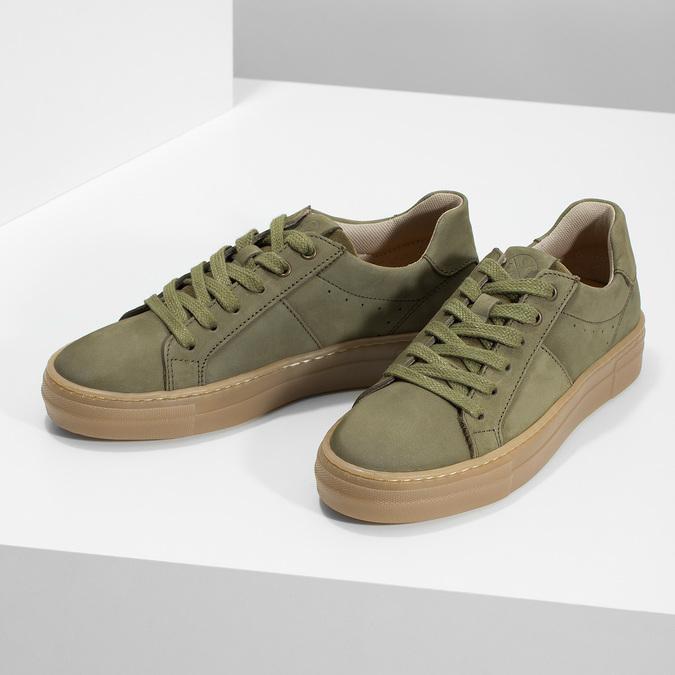 Detské zelené kožené tenisky mini-b, 416-7601 - 16