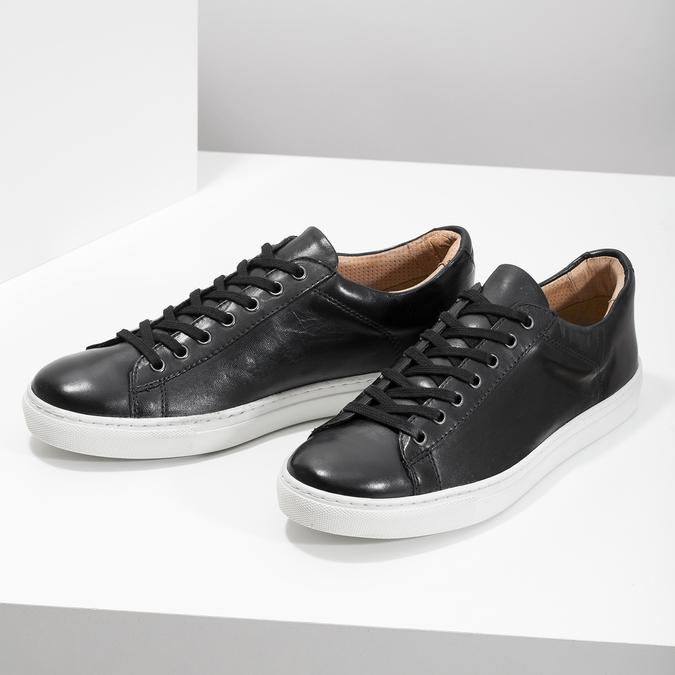 Pánske kožené tenisky bata, čierna, 844-6648 - 16