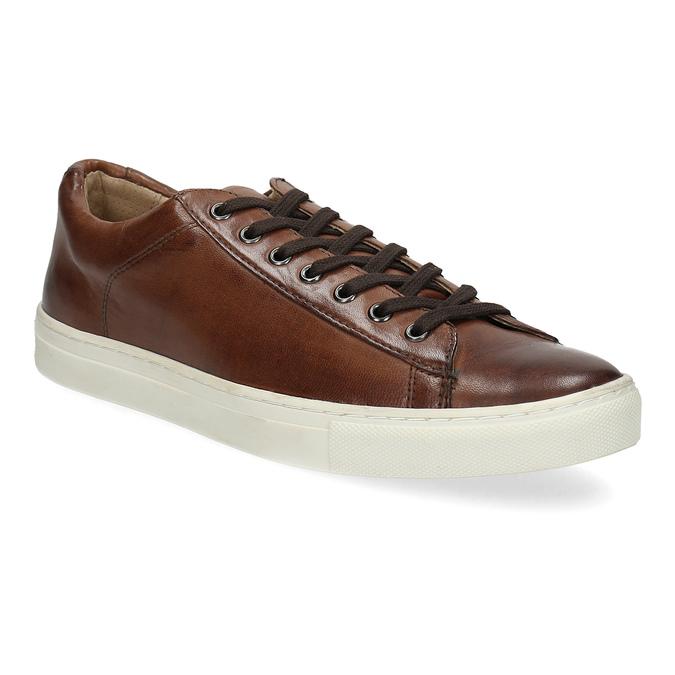 Kožené pánske tenisky bata, hnedá, 846-4648 - 13