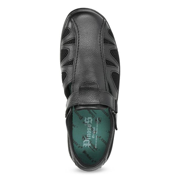 Pánske kožené sandále v elegantnom dizajne pinosos, čierna, 864-6625 - 17