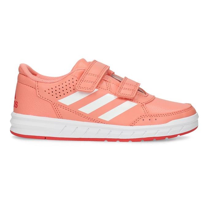 Detské tenisky v lososovej farbe adidas, ružová, 301-5151 - 19