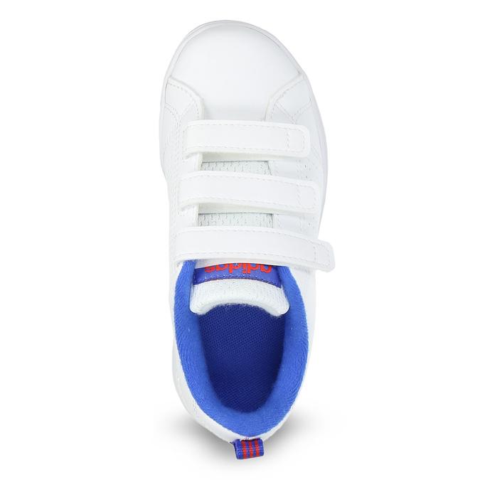 Biele detské tenisky na suchý zips adidas, biela, 301-1968 - 17