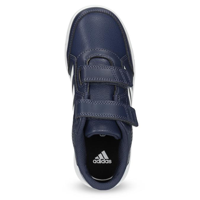 Modré detské tenisky na suchý zips adidas, modrá, 301-9151 - 17