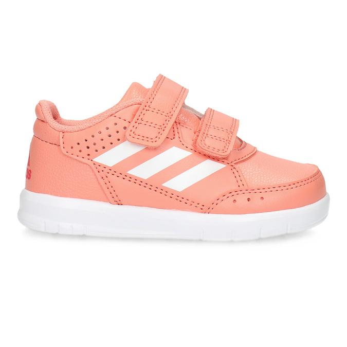 Dievčenské ružové tenisky na suchý zips adidas, ružová, 101-5151 - 19