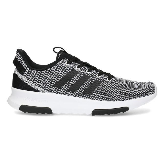Čierno-biele tenisky s tkaným vzorom adidas, čierna, 809-1101 - 19