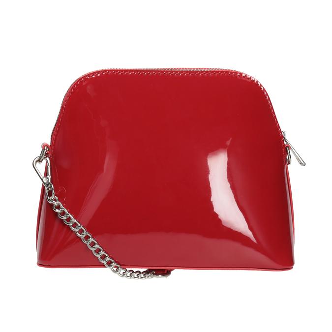 Červená lakovaná kabelka bata, červená, 961-5850 - 16