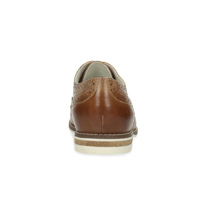 Hnedé dámske kožené poltopánky bata, hnedá, 526-3649 - 15