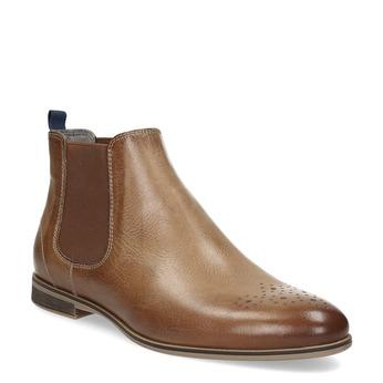 Dámska kožená Chelsea obuv bata, hnedá, 596-3684 - 13