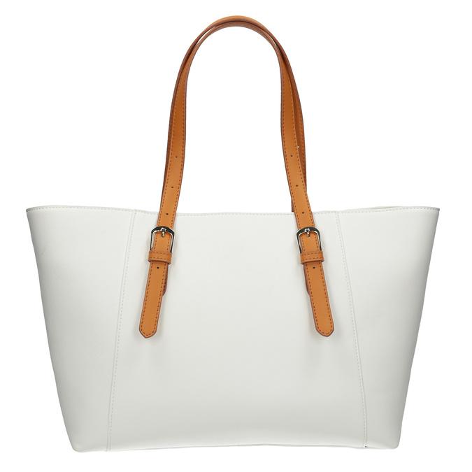 Krémová kabelka s ozdobnými zipsami bata, biela, 961-1840 - 16