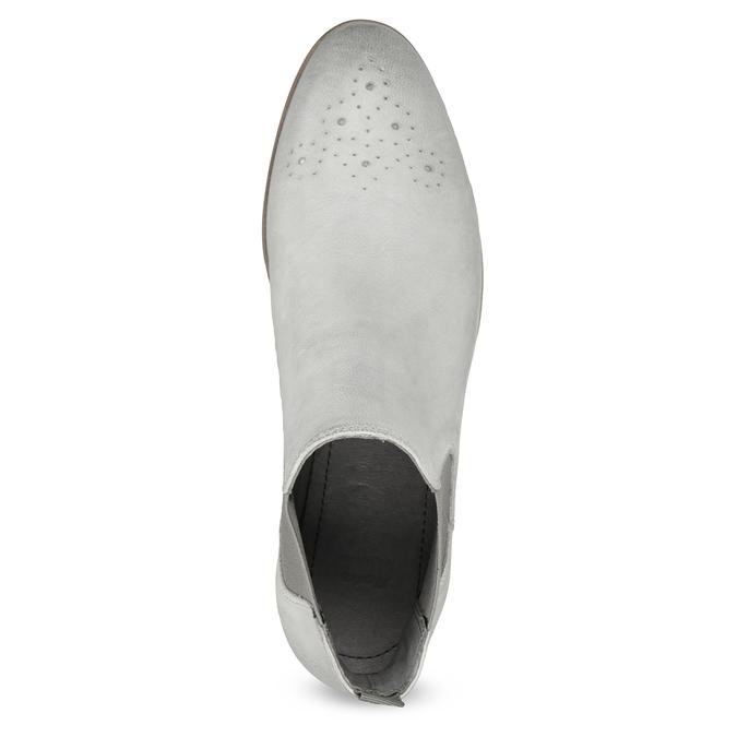 Kožená dámska Chelsea obuv bata, šedá, 596-1684 - 17