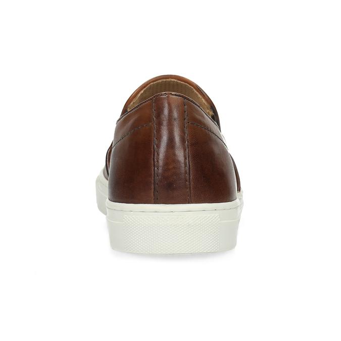 Pánska kožená Slip-on obuv bata, hnedá, 836-4601 - 15