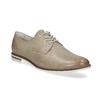 Kožené dámske poltopánky bata, béžová, 526-8650 - 13