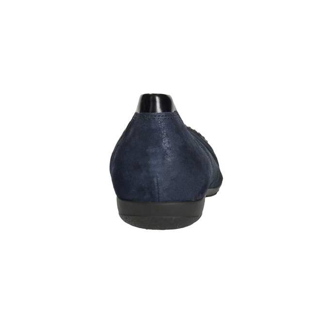 Dámske kožené baleríny s kamienkami gabor, modrá, 526-9502 - 16