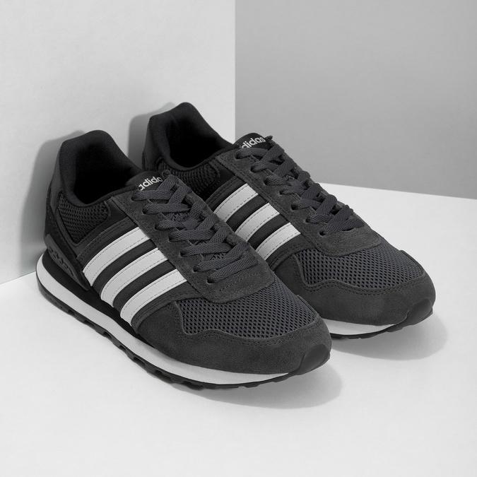 Čierne pánske tenisky z brúsenej kože adidas, čierna, 803-6293 - 26