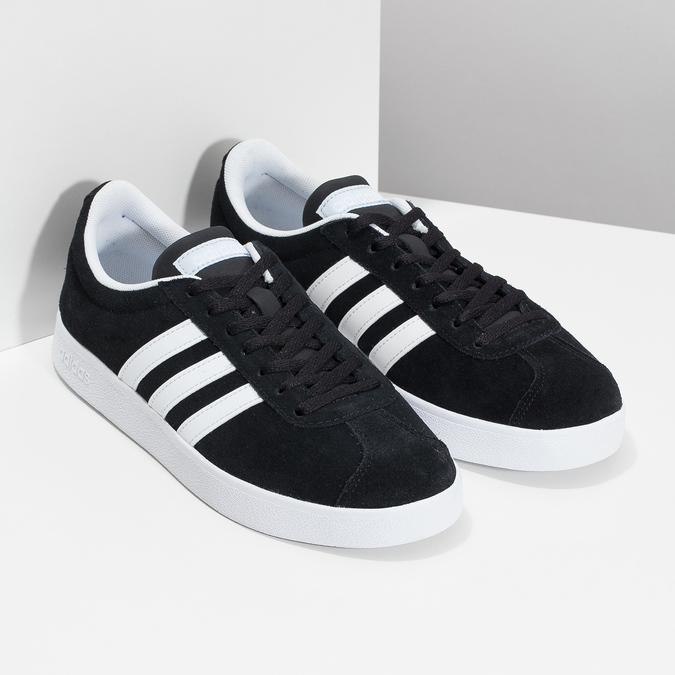 Čierne dámske tenisky z brúsenej kože adidas, čierna, 503-6379 - 26
