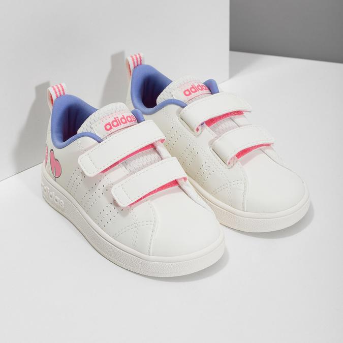 Detské biele tenisky so srdiečkami adidas, biela, 101-1129 - 26