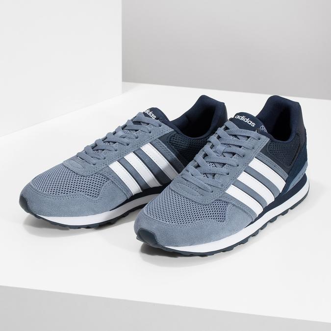 Pánske tenisky z brúsenej kože adidas, modrá, 803-2293 - 16