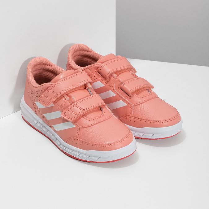 Detské tenisky v lososovej farbe adidas, ružová, 301-5151 - 26