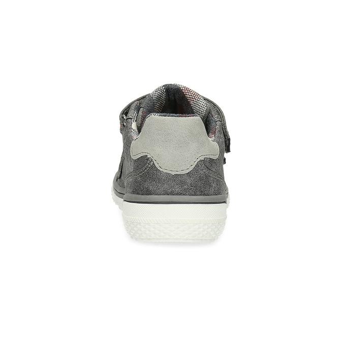 Detské tenisky s perforáciou mini-b, šedá, 211-2625 - 15