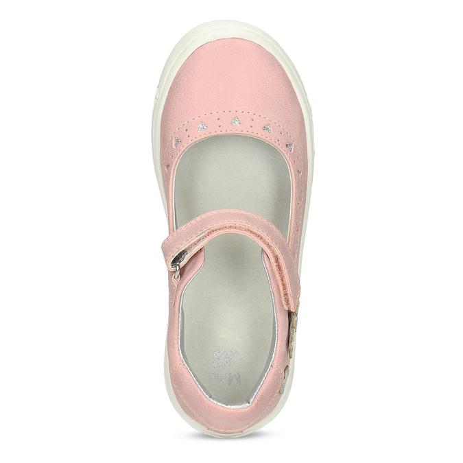 Ružové dievčenské baleríny mini-b, ružová, 221-5216 - 17