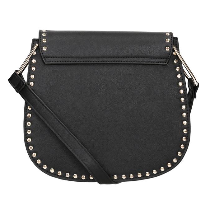 Čierna Crossbody kabelka s cvočkami bata, čierna, 961-6844 - 16