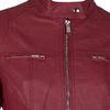 Koženková dámska bunda červená bata, červená, 971-5206 - 16