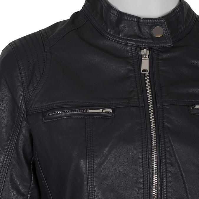 Čierna dámska koženková bunda bata, čierna, 971-6206 - 16