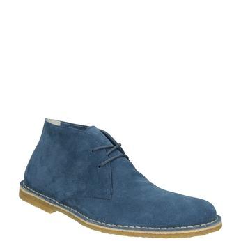 Modré kožené Desert Boots bata, modrá, 823-9622 - 13