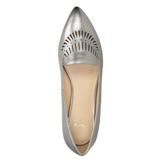 Dámska kožená obuv s perforáciou bata, 526-1659 - 17