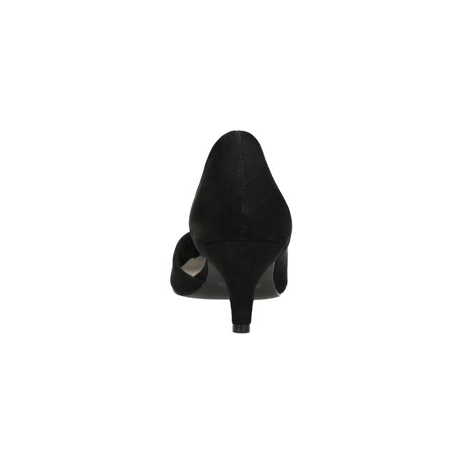 Lodičky na nízkom podpätku s vykrojením insolia, čierna, 629-6635 - 15
