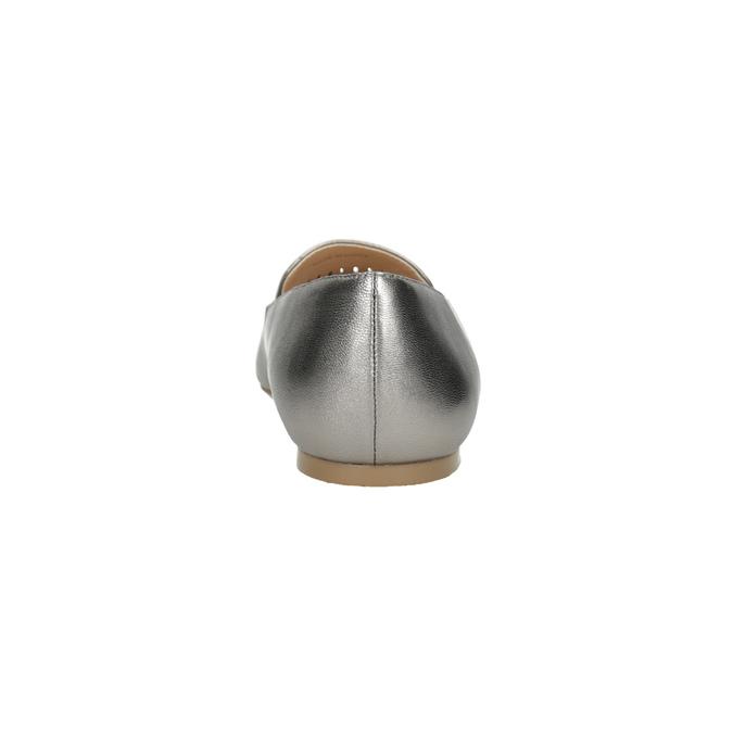 Dámska kožená obuv s perforáciou bata, 526-1659 - 15