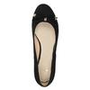 Lodičky na kline s mašľou bata, čierna, 629-6633 - 17
