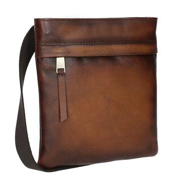 Kožená pánska Crossbody taška bata, hnedá, 964-3284 - 13