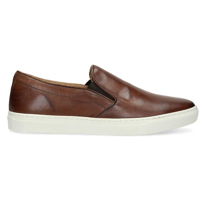 Pánska kožená Slip-on obuv bata, hnedá, 836-4601 - 19