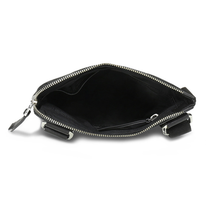 Čierna kožená Crossbody taška bata, čierna, 964-6288 - 15