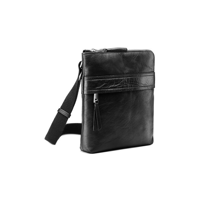 Čierna kožená Crossbody taška bata, čierna, 964-6288 - 13