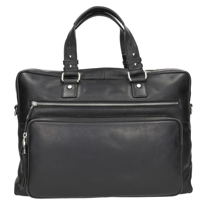 Kožená taška na dokumenty bata, čierna, 964-6287 - 26