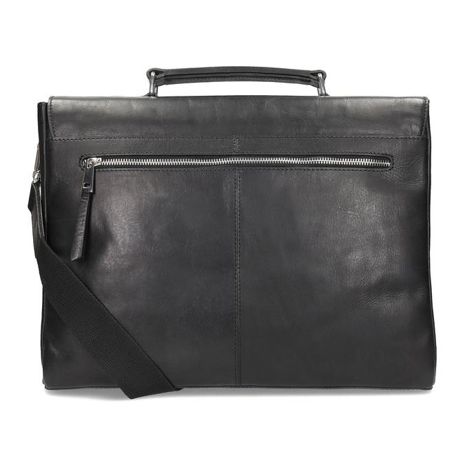 Kožená pánska aktovka bata, čierna, 964-6289 - 16