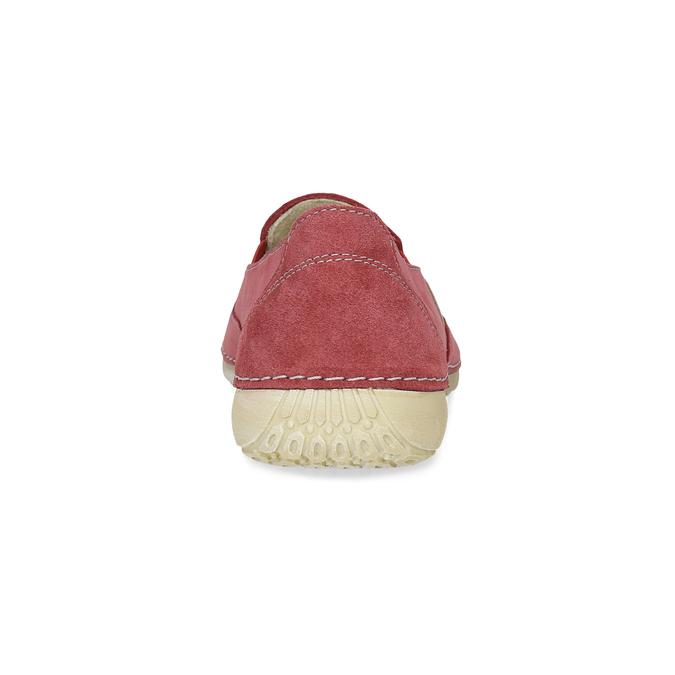 Červené dámske Slip-on weinbrenner, červená, 536-5606 - 15