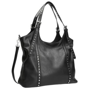 Čierna kabelka s odnímateľným popruhom bata, čierna, 961-6835 - 13