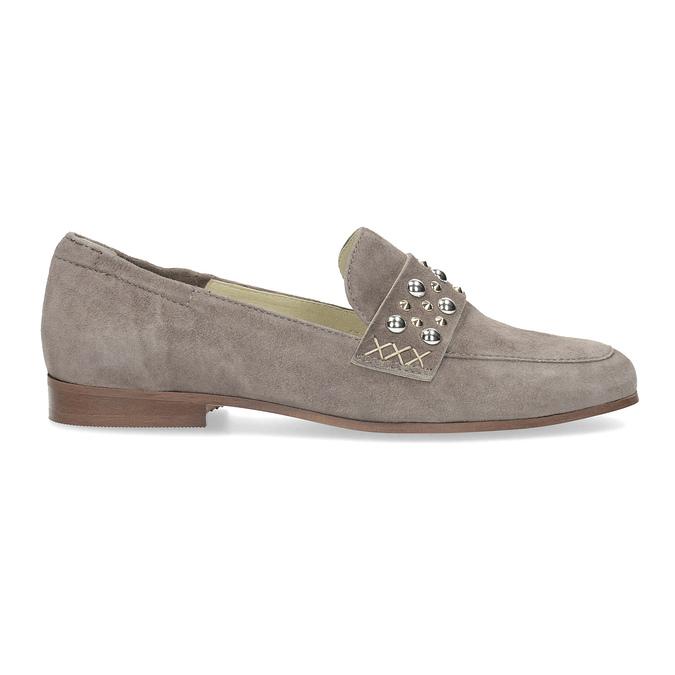 Kožené dámske mokasíny s prackou bata, 516-3616 - 19