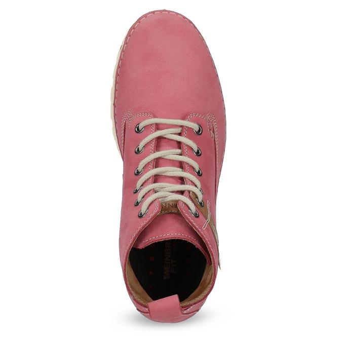 Kožená ružová členková obuv weinbrenner, 594-5666 - 17