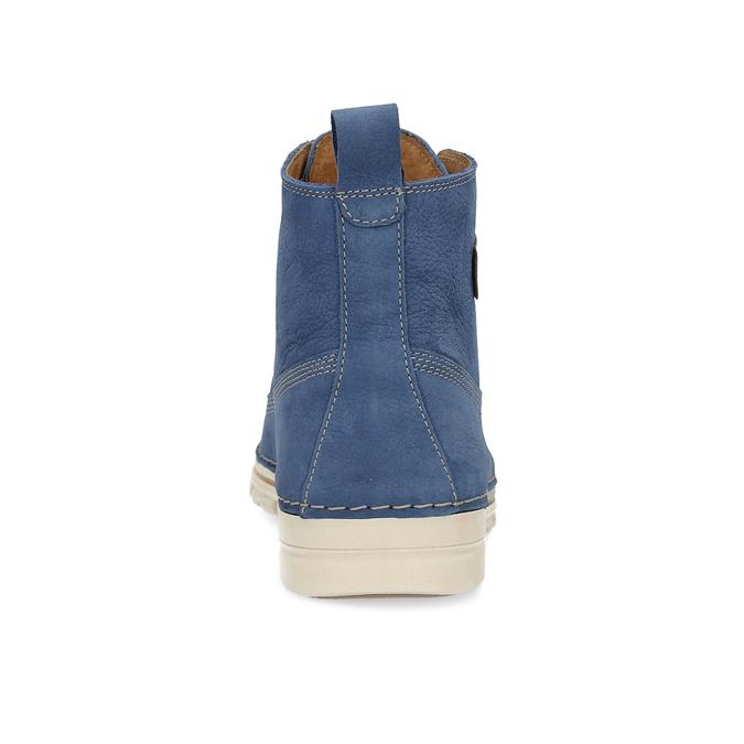 Dámska kožená členková obuv weinbrenner, modrá, 594-9666 - 15
