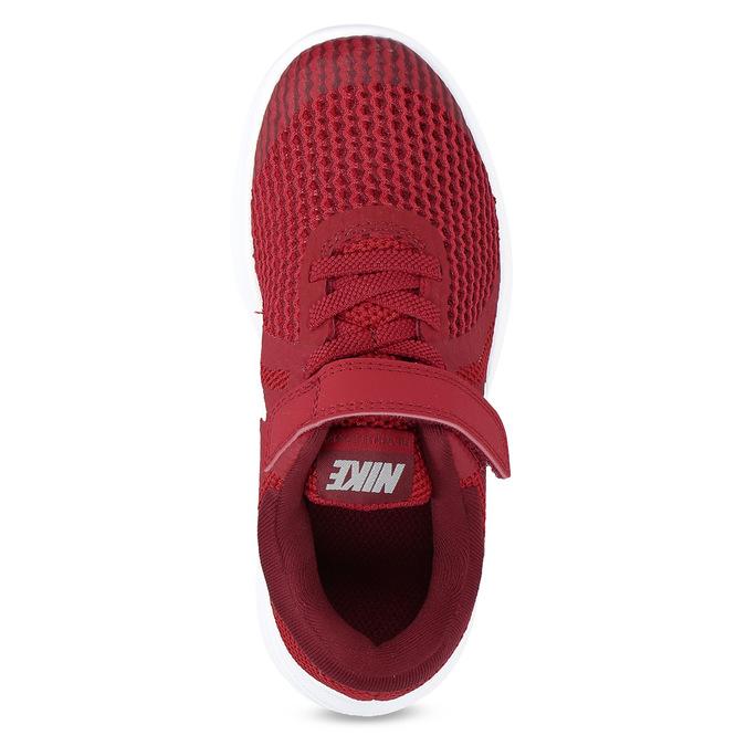 Červené detské tenisky na suchý zips nike, červená, 309-5179 - 17